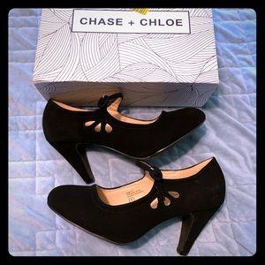 Chase + Chloe Vintage Black Mary Jane Heels 8